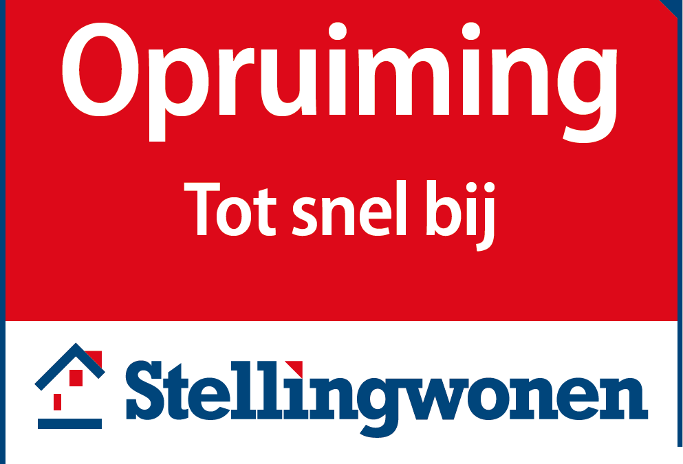 De opruiming is begonnen!