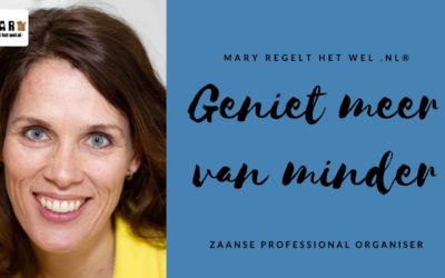 WORKSHOP organiseren & vouwen met de methode van Marie Kondo
